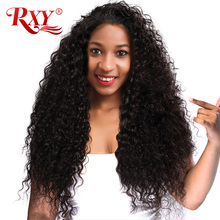 RXY Glueless Lace Front Human Hair Wigs for Black Women Kinky Curly Wig with Baby Hair 150% Brazilian Wigs Pre Plucked Non Remy(China)