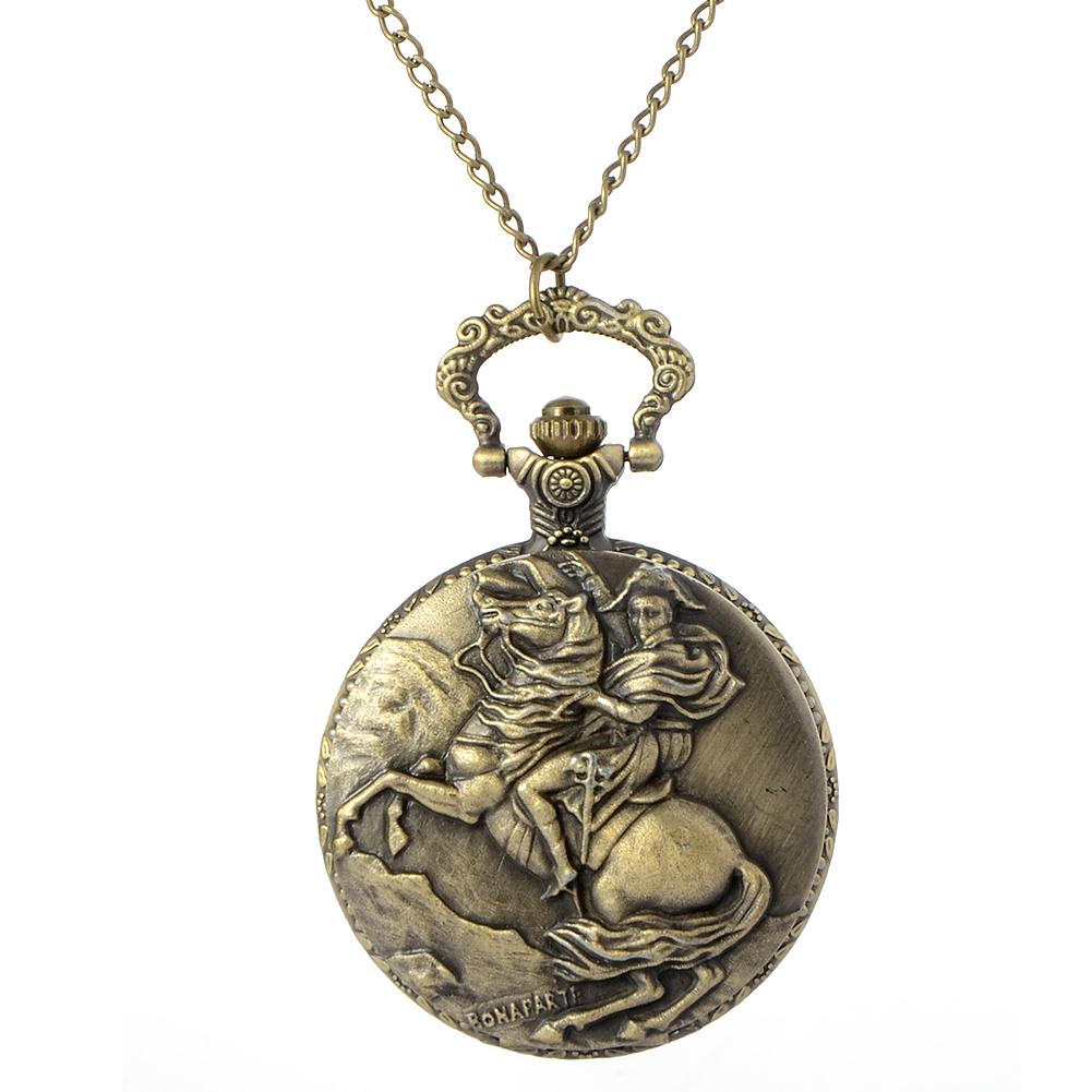 Cindiry Brand New Vintage Knight Ride Horse Quartz Pocket Watch Women Men Pendant Sweather Chain Necklace Watches Clock P0.5(China)