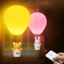 3 Modes Remote Night Light Hot-air Ballon Night Light Wall Lamp Chandelier Rechargeable Children Gifts Light Baby Bedroom Decor(China)