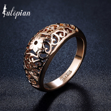 Iutopian Brand Simple Style  Hallow Pattern Ring Wholesale Love Gift Party Top Quality #RA13599
