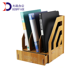 Free shipping wood file folders holder for office supplies a4 drawer rack box bookshelf holder for file folders