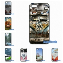 Volkswagen VW T1 Pink Blue Minibus Phone Cases Cover For Apple iPhone 4 4S 5 5C SE 6 6S 7 Plus 4.7 5.5 iPod Touch 4 5 6(China)
