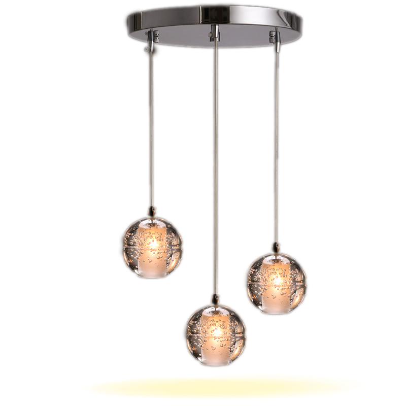 Modern Magic Ball Led Crystal Bubble Glass Pendant Light For Dining Room Globe Hotel Project Lamp Meteor Shower Lights Fixtures<br>