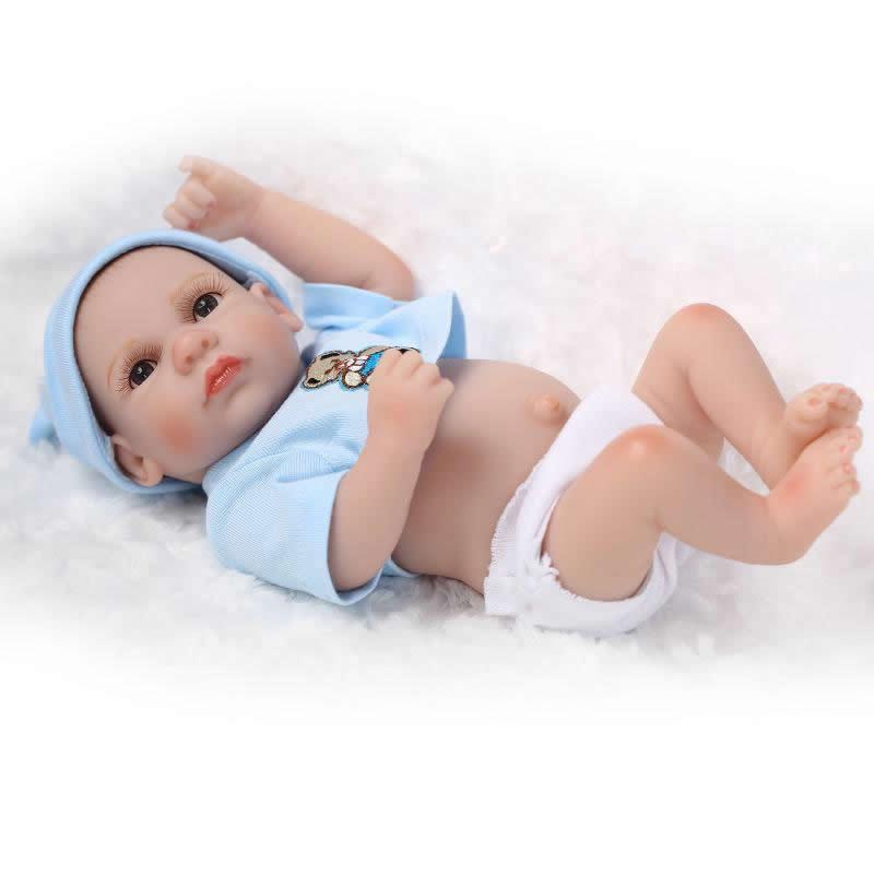 With Open Eyes 11 Inch Reborn Baby Doll Boy Body Full Silicone Vinyl Mini Realistic Newborn Princess Dolls Kids Birthday Gift<br><br>Aliexpress