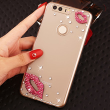 Fashional Rhinestone Pattern Style Phone Case For Huawei Honor8,Luxury Diamond Cell Phone Case Shell For Huawei Honor 8