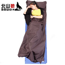 New Camping accessories sleeping bag liner outdoor sleeping bag adult envelope hooded sleep bag lower price(China)