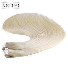 "Neitsi 20"" Mini Tape In Remy Human Hair 60# 2.0g/s 20pcs Brazilian Straight Virgin Remy Hair Extensions Skin Weft Hair Piece"