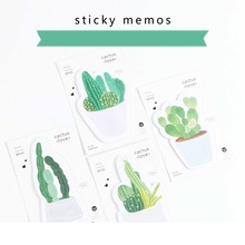 4 pcs/Lot Cactus love sticky memos 30 sheets paper pad Message record notes Stationery Office accessories School supplies 6181