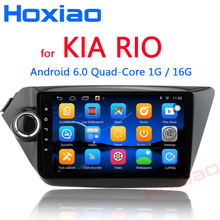 Android 6.0 Car GPS Navigation for Kia RIO K2 2010 2011 2012 2013 2014 2015 2016 Quad Core 9 inch 2 din Radio Player WIFI DVR(China)