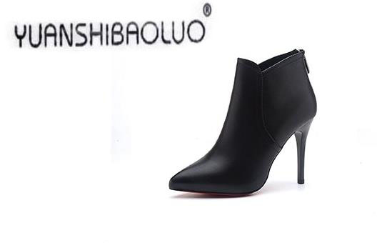 Europe Pointed High Heels Sexy Fine With The Boots And Shoes Ankle 2017 Simple Single Winter New<br><br>Aliexpress