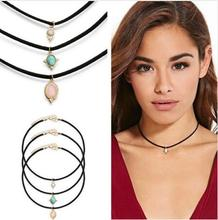 n046 New Fashion Jewelry All Leather Set Choker Necklace Set 1 Set = 3 Pieces Gift For The One Girl Women Directly gif
