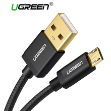 Ugreen Micro USB Cable Android Nylon Braided Charger USB to Micro USB Fast Charging Cable for Samsung Xiaomi HTC Tablet USB Cord(China)