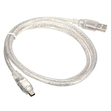 Universal 1.2M/4FT High-speed USB 2.0 Male to 4 Pin Firewire IEEE 1394 Cable Lead Adapter(China)