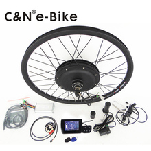 For electric bike 2016 hot sell 26'' wheel 40kmh motor 36v 500w electric bike conversion kit with TFT DISPLAYER