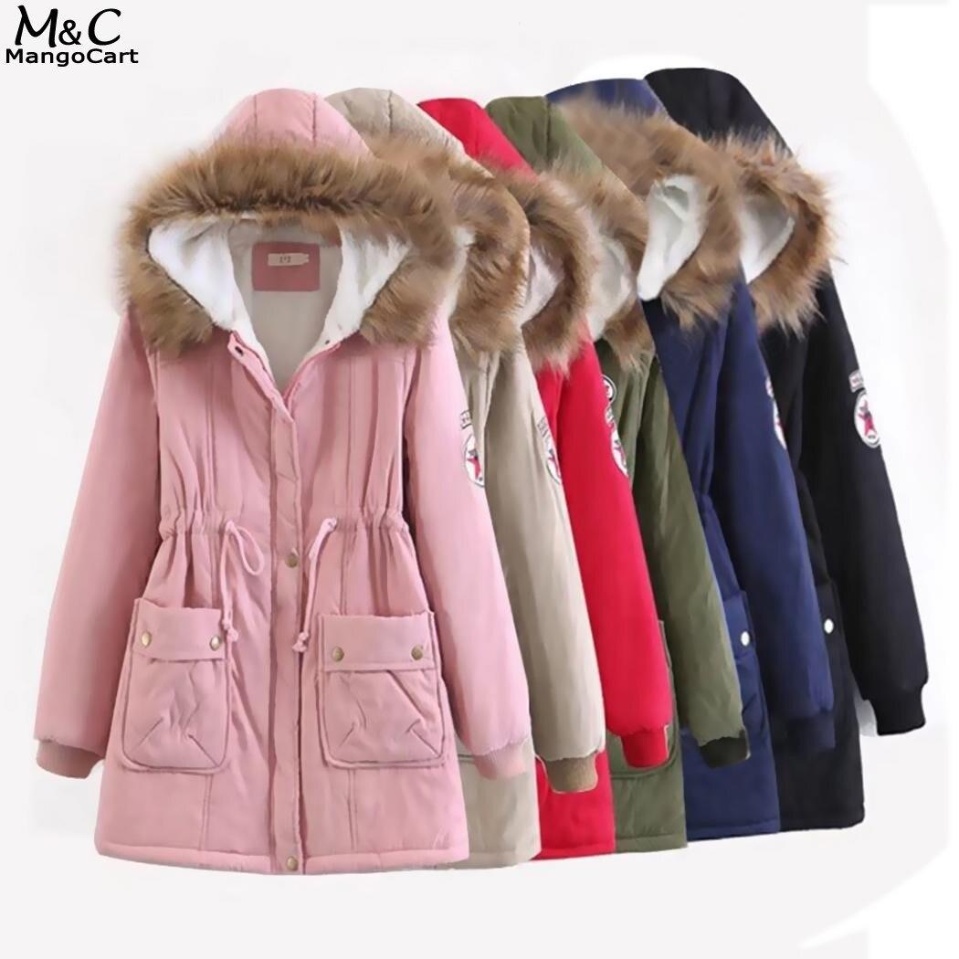 Winter Jacket Women Parka 2017 Fleece Coat Women Hooded Faux Fur Trimmed Long Sleeve Zipper Women Down Jacket Coat FemaleÎäåæäà è àêñåññóàðû<br><br>