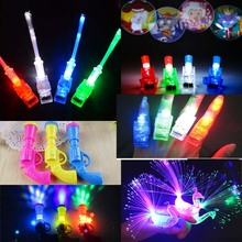 20pcs Glow LED Light Flashing Finger Rings Fiber Projector Peacock Night Light Torch Toy Kids Adult Party Navidad New Year(China)