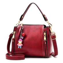 Women messenger Shuolder Bags Bucket Open Polyester Pu leather Fashion Mochlia feminina Bolsos Mujer(China)