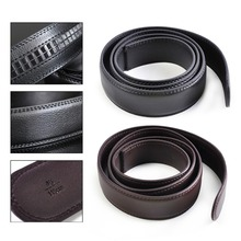 New 110cm Men Cow Split Leather Belt Automatic Waistband Waist Strap without Buckle Male Apparel Accessories Fashion Belts Strap