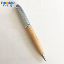 Emoshire Promotion High-end Wooden Ball point Pen Gift Roller Ball Pen Business Exhibition Engraving Ballpoint Pens Hot P135(China)