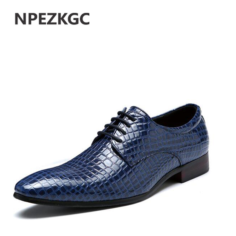 NPEZKGC Luxury Brand Men Shoes Spring Autumn Mens Flats Shoes Men Fashion Business Leather Shoes Casual Oxford Men Shoes<br>