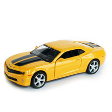 1:32 Chevrolet Camaro Bumblebee Diecast Vehicle Car Model toys Gift Sound&Light Yellow