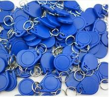 100Pcs Colorful 125khz EM4100 TK4100 ID Card Token Tags Key Keyfobs Chain For RFID Proximity ID Smart Entry Access Card Tag(China)