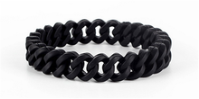 6pcs/lot good quality rubber chain power bangle double twist balance wristband fashion women balance bracelet(China)