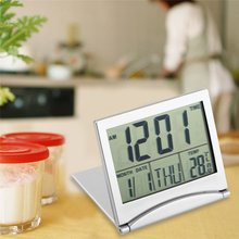 New Digital LCD Display Thermometer Calendar Alarm Clock Flexible Cover Desk Clock(China)