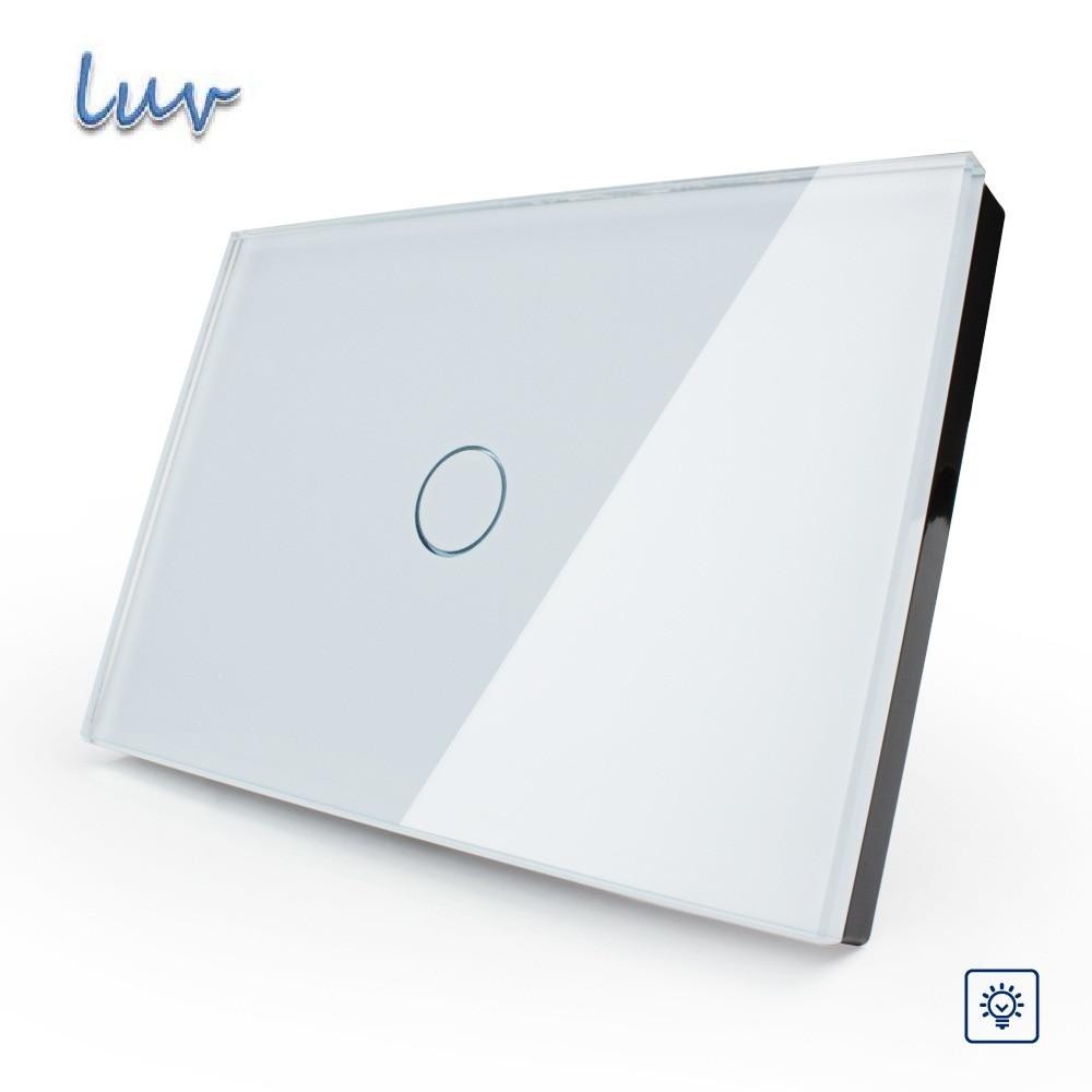 Smart Home US/AU standard, Manufacturer, White Glass Panel Dimmer Wall Switch, Light Home 1 Gang 1 Way VL-C301D-81 for Led Light<br>