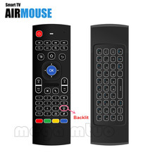 MX3-L backlight Air Fly Mouse Remote Control 2.4G Wireless Keyboard for Andriod TV Box PC Top Quality Mini Keyboard