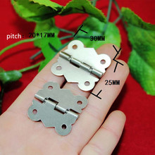 White Metal Hinge,Cabinet Door Hinge 4 Holes Butterfly Antique,Vintage Butterfly Hinge,30*25mm,50Pcs(China)