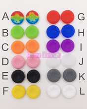 100pcs Rubber Silicone Cap Thumbstick Thumb Stick Cover Case Skin Joystick Grip Grips For PS4 PS3 PS2 XBOX 360 ONE Controller