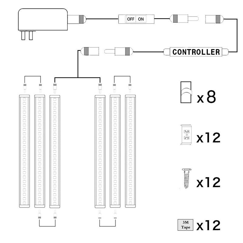 LED Puck Lights Kit Rigid Bar65