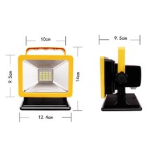 Free Shipping New Arrival Rechargeable 15W Energency LED Floodlight with Battery for outside Camping Red+Blue+White Color IP65