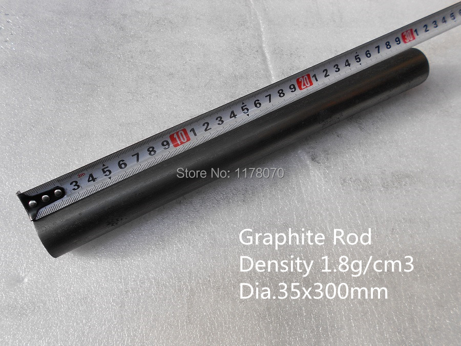 graphite rod Dia.35*L300mm    FREE SHIPPING     /Cylinder of Graphite carbon rod<br>
