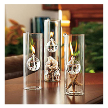 Decorative Creative Clear Glass Oil Lamp Reading Room Light Decor Kerosene Burner 15cm Cute Gifts Home Wedding Party Decorations