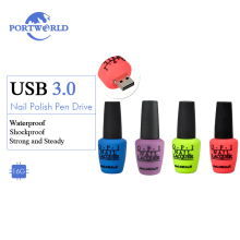 Portworld USB Flash Disc 16GB Creative Pen Drive 3.0 Unique Nail Polish Flash Drive Silicone USB Stick Purple Green Blue Red(China)