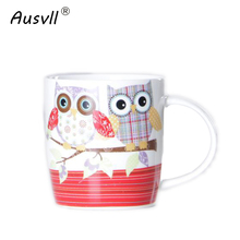 Ausvll Mugs Newest Ceramic Coffee Tea Water Cup Insulation High Quality Simple Cups Gift Friend Fashion Handgrip Durable Mugs