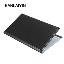 WholeTide 10* 120 Cards Black Leather Business Name ID Credit Card Holder Book Case Organizer