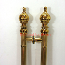 Interior hotel KTV door antique wooden door handle sliding door large glass door handle titanium color 800mm(China)