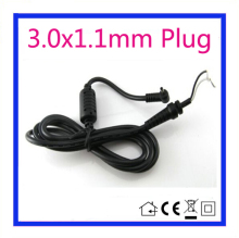 1.2m DC 3.0 x 1.1 3.0*1.1mm Power Supply Plug Connector With Cord / Cable For Samsung Asus Ultrabook Adapter Free shipping(China)