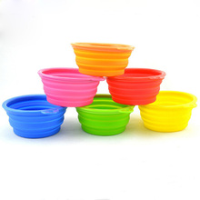 New Silicone Pet Bowl Travel Outdoor Puppy Cat Feeding Food Drink Collapsible 6 Colors Available