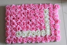 SPR Free Shipping LOVE Artificial silk rose flower wall wedding background lawn/pillar flower home market decoration(China)