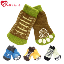 Pet Dog Puppy Socks Anti-Slip for Hardwood Floor Indoor Wear, Comfortable Shoes Boots With Rubber Reinforcement  Paw Protection