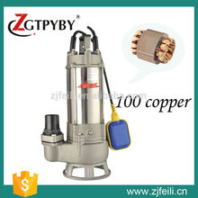 220v 1.1kw 1.5hp S series electric water transfer pumps stainless steel submersible sewage pump automatic booster pump