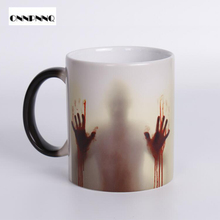 The Walking Dead Magic Mugs Color Changing Mug Light Magic Marauders Map Magic Mug Heat Sensitive Color Changing Coffee Mugs