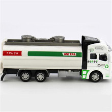 1:32 Alloy Pull back watering cart truck tanker sprinkler model simulation Cars oil tank truck toy car(China)