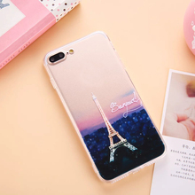 1 Pc/lot Acrylic Landscape Series Cell Phone Case Back Cover For iPhone 7 6 6s Plus 5s with Dust Plug Lid Lanyard Hole