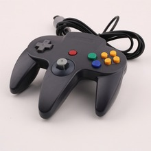 Gamepads Long Handle Game Controller Pad Joystick for Nintendo 64 N64 System Black