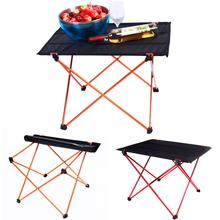 Portable Outdoor Folding Table Desk Aluminum Alloy Ultra-light Durable Foldable Table for Camping Picnic